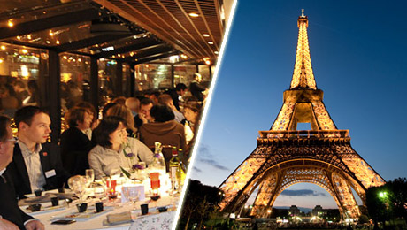 dinner cruise on the Seine River, and a visit of Paris by night