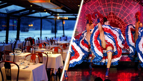 Dinner cruise on the Seine River and Moulin Rouge with France Tourisme.