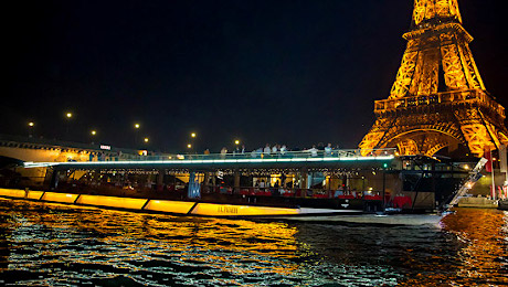 New Year's cruise on a bateau mouche