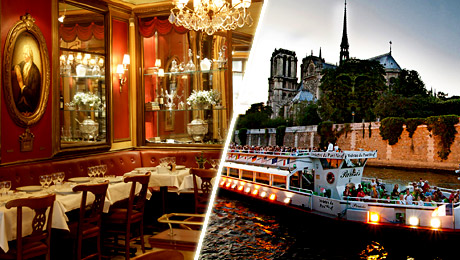 Dinner at the Procope Restaurant and cruise on the Seine River. A special night with France Tourisme.