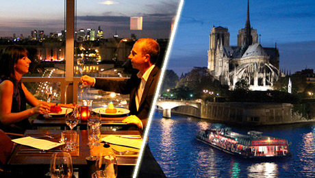 Eiffel Tower Dinner and cruise on the River Seine with France Tourisme